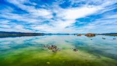 Plains of Celestis (Yaecker Photography) Tags: lake monolake water sky skyporn skyblue bluesky wide wideangle 16x9 cinematic waterporn waterscape northerncalifornia