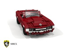 LMx Sirex Roadster (lego911) Tags: lmx lms sirex roadster convertible 1969 1960s classic scalione italy italian ford v6 taunus auto car moc model miniland lego lego911 ldd render cad povray