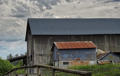 Past Prime (robinlamb1) Tags: buildings barn landscape cloud sky langley