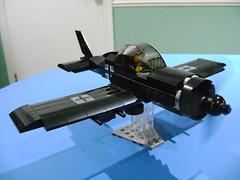 Redesigning my Lego WW2 German fighter plane WIP (TekBrick) Tags: custom lego ww2 german fighter plane pilot black iron cross moc war