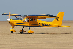 G-TCNM (QSY on-route) Tags: gtcnm lancashire landing 2018 fly in knott end beach airfield 09062018