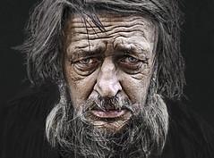 Eyes on the street (Ales Dusa) Tags: man portrait face oldbeardedman streetportrait human colorportrait wrinkledman wrinkles alesdusa canon5d fullframe closeupportrait homeless eyecontact strongcontrast charismaticman blackbackground humanity people ef50mmf18stm outdoor person eyes