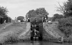 GroupEffort (Tony Tooth) Tags: nikon d7100 nikkor 55300mm bw blackandwhite monochrome canal lock narrowboat people groupeffort team bosleylocks macclesfieldcanal cheshire