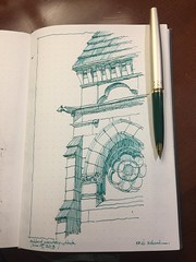 Oakland Cemetery (schunky_monkey) Tags: illustration art penandink ink pen fountainpen sketchbook drawing draw sketching sketch gravesite building architecture mausoleum cemetery oaklandcemetery