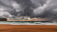 Avalon beach in the rain (claudia@flickr) Tags: australia avalon avalonbeach benhalcomb d850 focus nsw nikon testd850 beach clouds seascape rain testing wideangle