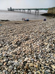 Clevedon (The Wooden Stairs to Bedminster) Tags: seaside clevedon clevedonpier beach britishbeach summer pebblebeach pebbles sea englishsummer summerholiday