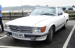 1987 Mercedes 300SL (occama) Tags: d355mrl mercedes 300sl white old car cornwall uk 1987 cornish german coupe