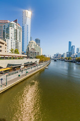 Eureka Tower and Southbank, Melbourne (golferdave2010) Tags: 2018 autumn victoria melbourne 7d australia architecture canon may yarra river yarrariver