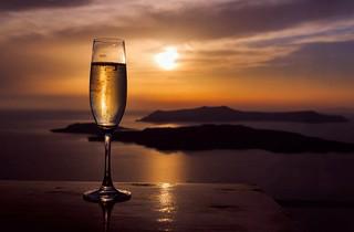 A romantic sunset...