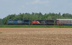 IC 2460 West, CN E271 (Joseph Bishop) Tags: ic 2460 ge c408w copetown cndundassubdivision trains train track tracks railfan railroad railway rail rails