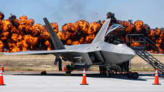 RAPTOR 1 (Kaiserjp) Tags: gunfighterskies 2018 mhafb mountainhome airshow demo airplane military airforce jet fighter gunfightercountry f22 raptor alaska ak walloffire explosion pyrotechnics f22a lockheedmartin