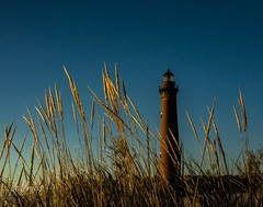 Little Sable Light . . . (Dr. Farnsworth) Tags: light house sand dune grass oceana county silverlake mi michigan spring may2015