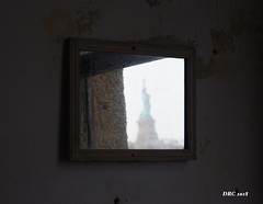 Reflections of Liberty (DRC - THANKS!! 3 Million Views) Tags: liberty reflection mirror ellisisland