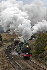 Nanna and the Pig (Tom Marschall) Tags: rail railroad railway travel heritage australia sydney nsw new south wales canon photography steam train loco locomotive engine cloud cloudy smoke