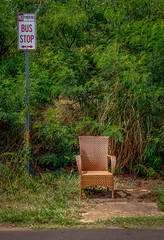 Kauai Bus Stop with wicker chair (Thanks for 1.1+ million views) Tags: hawaii kauai