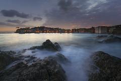 la baia del silenzio (Gian Paolo Chiesi) Tags: sestri levante liguria italy bay water waterscape lanscape blu filter sony landscape rocks longexposure night mediterranean susset