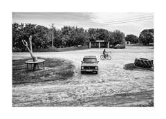 Severinovka (Jan Dobrovsky) Tags: ukraine bicycle outdoor odesa monochrome street car blackandwhite nikond810 rural village severinovka document scythe