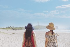 Wollongong Australia (yuanxizhou) Tags: vacation travel australia blue sky lighthouse portrait light sand beach