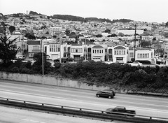 Outer Mission // San Francisco (bior) Tags: fujifilmga645zi ga645zi ilfordfp4plus125 fp4 fp4plus ilfordfilm sanfrancisco 6x45cm 645 mediumformat filmphotography film outermission interstate280 i280 freeway highway