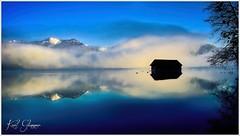 Almsee Morgennebel (Karl Glinsner) Tags: österreich austria salzkammergut berge mountains see lake mist fog morning spiegelung reflection grünau morgenstimmung nebel frühling spring