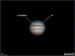 Io Transit Across Jupiter (LeisurelyScientist.com) Tags: astronomy astrophotography space outerspace meade lx90 telescope celestron cgemdx observatory leisurelyscientist weatherly pennsylvania deepsky science canon canon6d darksideobservatory stars tdsobservatory backyardeos jupiter io planet transit june 2018 televue powermate