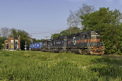 POWA at Waterville (Thomas Coulombe) Tags: panamrailways panam guilfordrailsystem guilford emdgp40 gp40 freighttrain train powa waterville maine