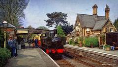 GWR 6430 - Carrog Station (Mike Cordey) Tags: carrog corwen llangollen 6430 train 060 gwr panier