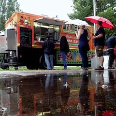 Dining in the rain (Thiophene_Guy) Tags: thiopheneguy originalworks olympustoughtg4 tg4 olympustg4 olympusstylustg4 tough minneapolismakerfaire2018 umbrella mspminimakerfaire