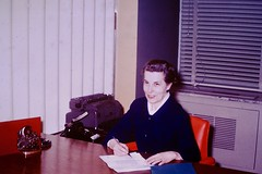 Found Photo Secretary at Desk (Mark 2400) Tags: office desk found photo secretary