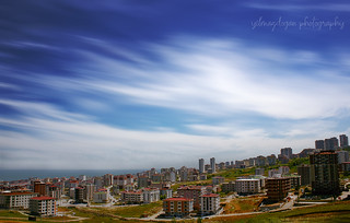sky,city and sea