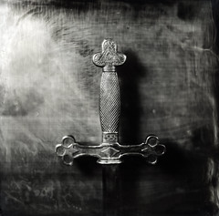 Masonic Sword ([Eric OLIVIER]) Tags: masonic sword wetplate collodion process ambrotype largeformat photography camera carlzeissjena lens silvernitrate monochrome fineart filmisnotdead analog