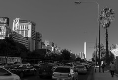 Southern Obelisk (fredylp) Tags: street obelisk buenosaires argentina 35mm canonef35mmf2isusm canon5dmarkii blackandwhite