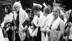 Processions Edinburgh 2018 041 (byronv2) Tags: processions processionsedinburgh edinburgh edimbourg meadows middlemeadowwalk scotland woman women candid street peoplewatching protest march rally suffragette votesforwomen 1918 2018 feminism politics vote voting blackandwhite blackwhite bw monochrome