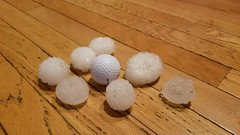 June 18, 2018 - Massive hail in Thornton. (John Stavola)