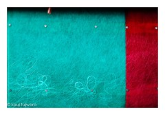 outer wall ... fisherman's cottage (kouji fujiwara) Tags: wall outer red blue fineart fine art minimal minimalism abstract texture