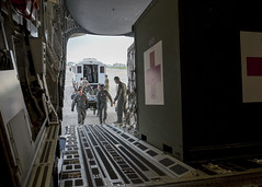 BEEliners enable AE mission (Official Travis AFB, Calif.) Tags: second ae aeromedical evacuation beeliners 21stairliftsquadron asian pacific american heritage month c17globemasteriii c17 kadena anderson afb air care ccatt critical transport team medics nurse 21stas patientcare