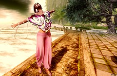 Time after Time (kare Karas) Tags: woman lady femme girl girly sweet beauty cute sensual seduce sedcutive casual chic virtual avatar secondlife game fun wind colors june events spring dream mesh bento poses top pants shoes earrings shawl flats ghee senseevent expressivebentoposes