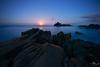 Jaileshui Moonrise (Kuanying Fu) Tags: bluehour fullmoon sunset moonrise pacific rock seascape landscapes longexposure seasky may 2018 summer night canon irix firefly