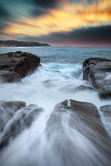 Soldiers Beach LE    CENTRAL COAST    NSW (rhyspope) Tags: australia aussie nsw new south wales soldiers beach norah head lighthose water flow waves sea ocean coast coastal sky long exposure rhys pope rhyspope canon 5d mkii weather travel amazing explore rocks