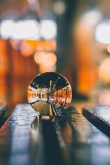If you're shooting in the night, you gotta follow the light. (ibtihajtafheem) Tags: lensball crystalball lensballphotography crystalballphotography glassball mirror reflection reflections moody yellow tones tonesoflife streetvision phophotography