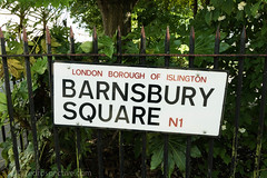 2017 - Open Square Garden - Saturday - 04 - Barnsbury Square -7175 (Out To The Streets) Tags: 2017 20170617 barnsburysquare europe june2017 london opengardensquares opengardensquares2017 opengardensquares2017sunday uk unitedkingdom fence green plants sign text words