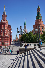 May 25, 2018 (pavelkhurlapov) Tags: layers lamppost tower couple photo kremlin stairs people view perspective cityscape streetphotography architecture sunny harsh daylight lines