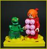 Karmutt the Froog & Mizz Porkers (Karf Oohlu) Tags: lego moc couple minifig oddity frog pig teats kermitandmisspiggy