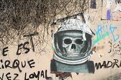 Skull paste-up (Jürgo) Tags: paris parisstreetart streetart france urbanart streetartfrance publicart paste pasteup wheatpaste poster posterart