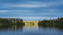 'Last Light' (Canadapt) Tags: sunset lake shoreline trees reflection panorama keefer canadapt