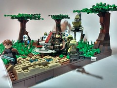 Lego Star Wars MOC Swamp mission (Legoswbr) Tags: lego star wars moc anakin skywalker luminara unduli 501st 41st clones swamp walker