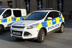 LJ15 LKC (Ben Hopson) Tags: british transport btp 999 train trainline police network rail ford kuga incident response vehicle irv rv newcastle city centre st james park magic rugby weekend 2018 2015 lj15 lkc lj15lkc