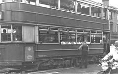 London transport E1 tram on route 44 Lee Green circa 1951. (Ledlon89) Tags: trams tram tramway londontrams london transport lt lte londontransport woolwich newcross southlondon selondon southeastlondon electrictransport 1951 1950s