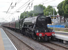 Flying Scotsman - The Cathedrals Express . (AndrewHA's) Tags: westealing railway station london train steam engine locomotive 60103 flying scotsman 1z72 excursion paddington victoria cathedrals express