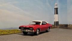 1971 Mercury Montego. (ManOfYorkshire) Tags: usa american car model scale 164 johnnylightning auto automobile diorama limitededition 2016 range red whiteroof 1971 mercury montego